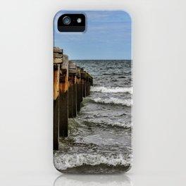 Groynes at Horsey Gap iPhone Case