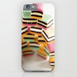 Stack of assorted liquorice iPhone Case