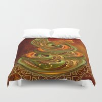 cake Duvet Covers featuring Swirly cake by Giada Rossi
