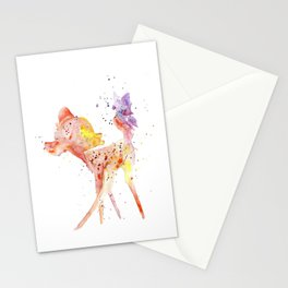 Bambi Meets Butterfly Stationery Cards