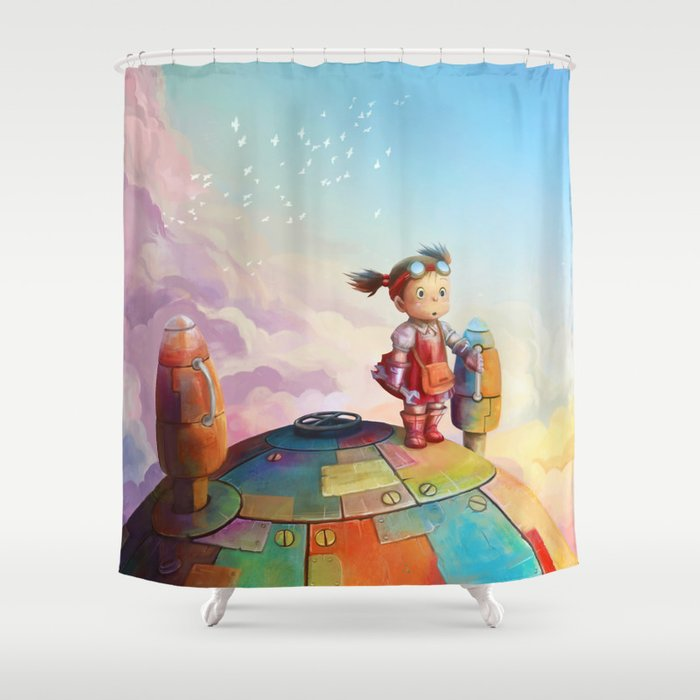 MEI And TOTORO Shower Curtain