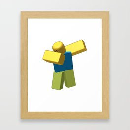 Coolest Roblox Dab Cool Framed Art Print