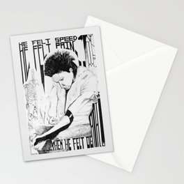 He Felt Speed Stationery Cards