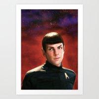 spock Art Prints featuring -Spock- by JEUDI