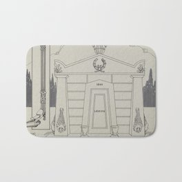 Iron Tomb Thomas Byrne Vintage Architecture Bath Mat