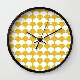 Fan Pattern 321 Mustard Yellow Wall Clock