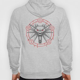 Witcher White Wolf Signs Medallion Hoody