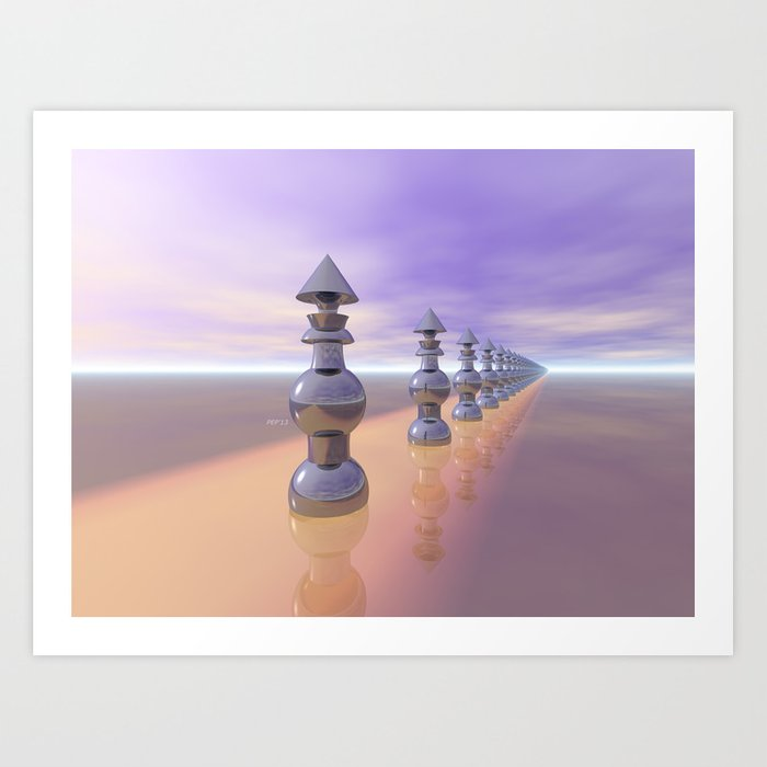 Conical Geometric Progression Art Print