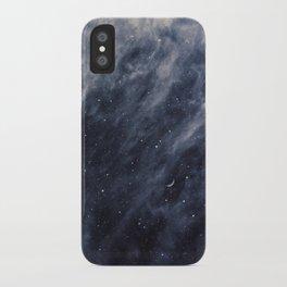 Blue Clouds, Blue Moon iPhone Case