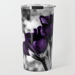 Purple Flowers Pop Of Color Travel Mug