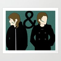 tegan and sara Art Prints featuring tegan & sara by lizbee