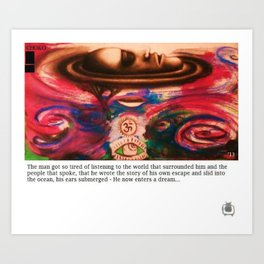 the man submerged Art Print