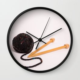 Knitting Bag Two Wall Clock