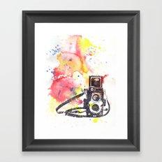 Vintage Rolleiflex Camera Painting Framed Art Print