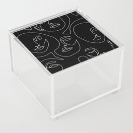 Faces in Dark Acrylic Box
