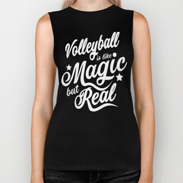 Volleyball Is Like Magic But Real  Biker Tank