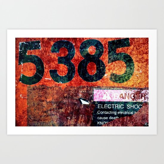 Rusty Numbers Art Print