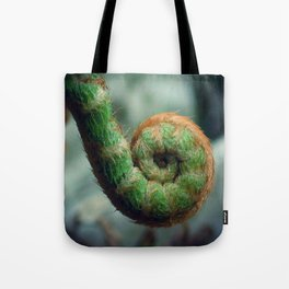 Fern frond spiral fiddlehead Tote Bag