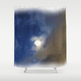 Cloudy Night Sky Impression Shower Curtain