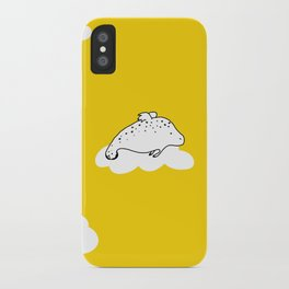 Flying Manatee by Amanda Jones iPhone Case