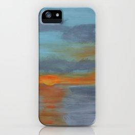 Maine Sunset iPhone Case