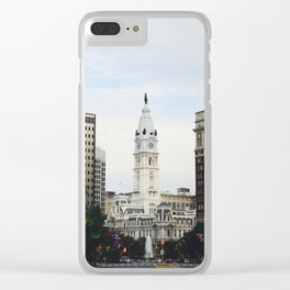 Philadelphia City Hall from the Parkway Clear iPhone Case