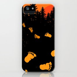 Bigfoot Tracks At Sunset iPhone Case