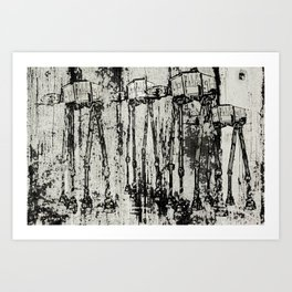 Star Wars At-At Herd by Andy Walsh Art Print