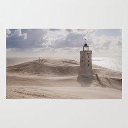 Sandstorm at the lighthouse Rug