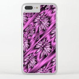 colored subtle pattern Clear iPhone Case