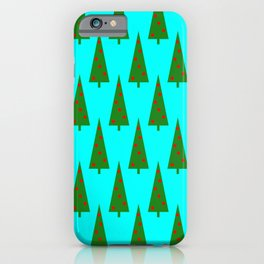 Contemporary Christmas Trees Pattern iPhone Case