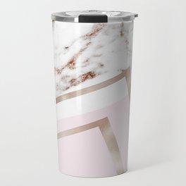 Geometric marble - luxe rose gold edition I Travel Mug