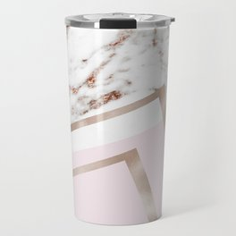 Geometric marble - luxe rose gold edition I Travel Mug