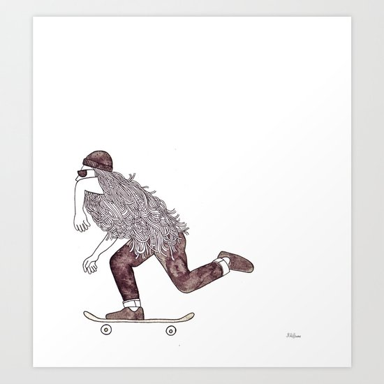 skatebearding (goofy) Art Print