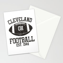 Cleveland Football Fan Gift Present Idea Stationery Cards