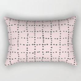 Drunk Polka Dot Grid Dance Rectangular Pillow
