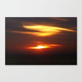 Daybreak over the sea Canvas Print