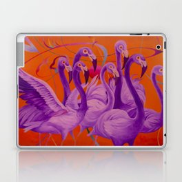 Purple Flamingo Laptop & iPad Skin