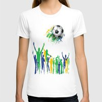world cup T-shirts featuring World Cup Fever by Robin Curtiss