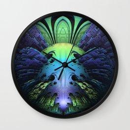 Clowning Around    #society6 #fractal #buy Wall Clock