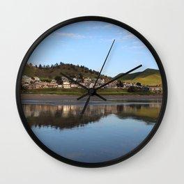 Ocean Water Reflection in Cayucos, California Wall Clock