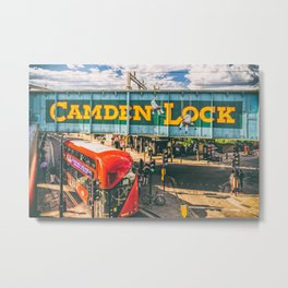 London Camden Lock  Metal Print