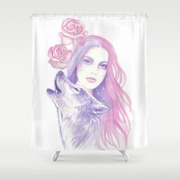 Twin Souls Shower Curtain