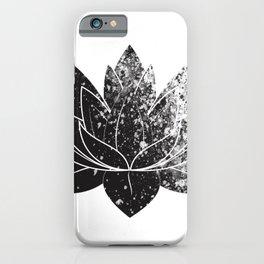 Boho - black and white lotus iPhone Case