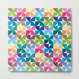 Geometric Pattern #1 (Colorful semicircle) Metal Print