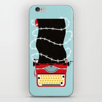 write iPhone & iPod Skins featuring Typer Write by Dorian Danielsen