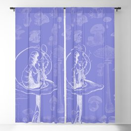 Caterpillar and Mushrooms Blackout Curtain