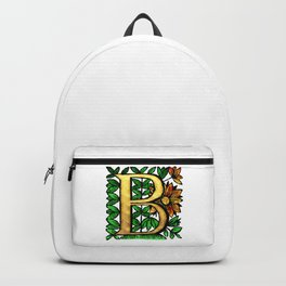 Monogram Alphabet Letter 'B' Backpack