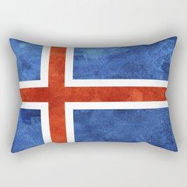 Icelandic Flag Rectangular Pillow