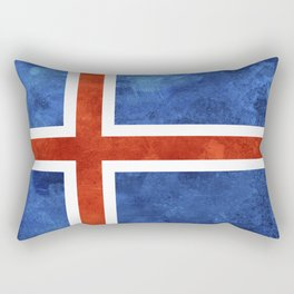Icelandic Flag Rectangular Pillow